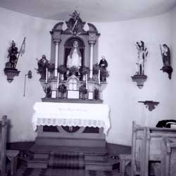 Altar der Kapelle in Rhan